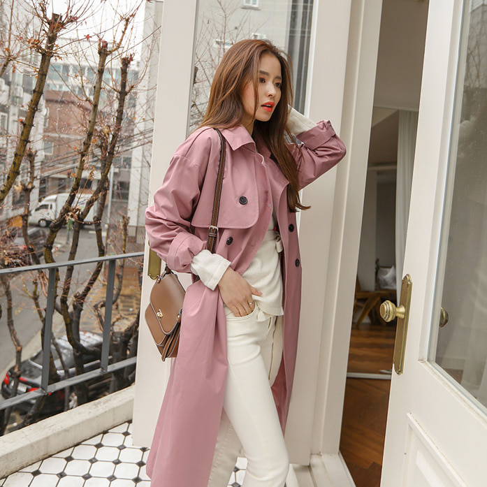 Dabagirl Belted Waist Trench Coat
