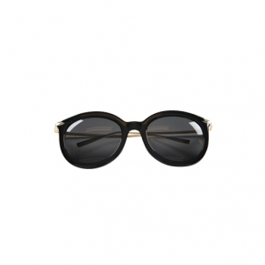 Dabagirl Gold-Tone Temple Oversized Sunglasses