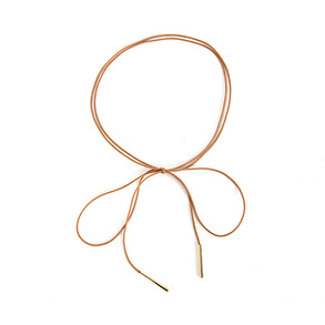 Dabagirl Gold Tone Detail Thin Necklace