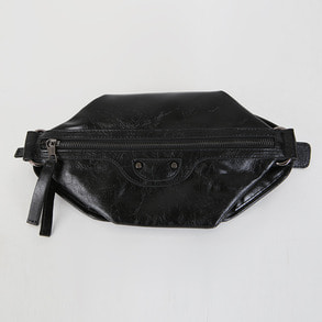 Dabagirl Zippered Faux Leather Hip Sack