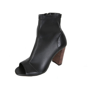 Dabagirl Open Toe Side-Zip Ankle Boots