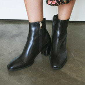 Dabagirl Square Toe Side Zip Boots