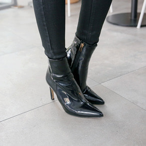 Dabagirl Side Zip Pointed Toe Ankle Boots