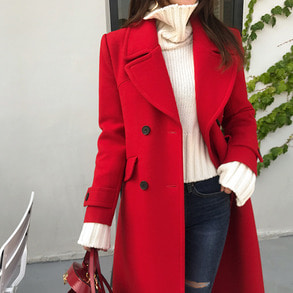 Dabagirl Flap Pocket Wide Collar Coat
