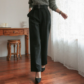 Dabagirl High Waist Belted Wide Leg Pants