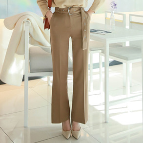 Dabagirl Belted High Waist Pants