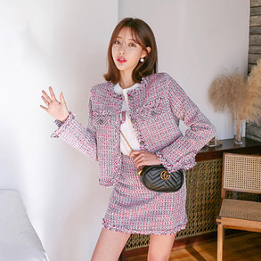 Dabagirl Loose Fit Tweed Jacket