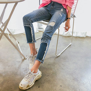 Dabagirl Distressed Slim Fit Jeans