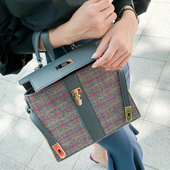 Dabagirl Check Square Bag