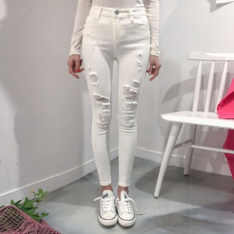 Dabagirl Distressed Front Skinny Pants