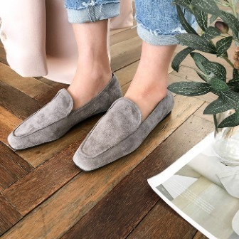 Dabagirl Square-Toed Suede Loafers