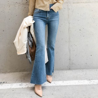 Dabagirl Faded Wash Flared Leg Jeans