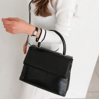 Dabagirl Textured Square Handbag