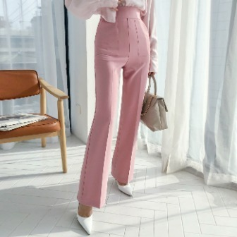 Dabagirl High Waist Solid Color Slacks