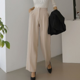 Dabagirl High-Waist Pleated Loose Fit Slacks