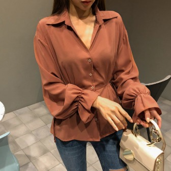 Dabagirl Tie-Side Button-Up Blouse