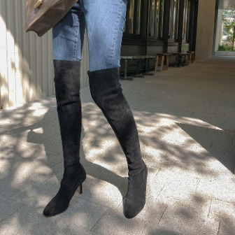 Dabagirl Faux Suede Thigh-High Boots