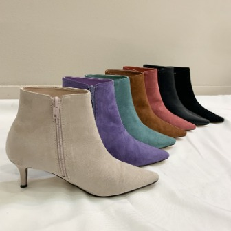 Dabagirl Pointed Toe Side Zip Ankle Booties