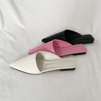 Dabagirl Asymmetrical Pointed Toe Mules