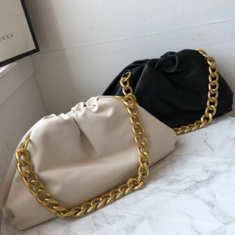 Dabagirl Chain Strap Gathered Bag