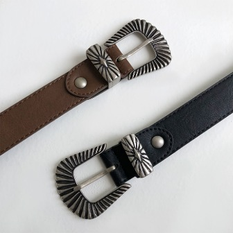Dabagirl Textured Buckle Leatherette Belt