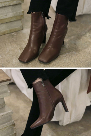 Dabagirl Square Toe Faux Leather Ankle Boots
