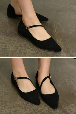 Dabagirl Pointed Toe Strap Shoes