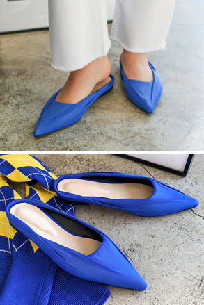Dabagirl Pointed Toe Flat Mules