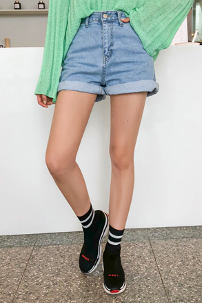 Dabagirl High Waist Denim Shorts